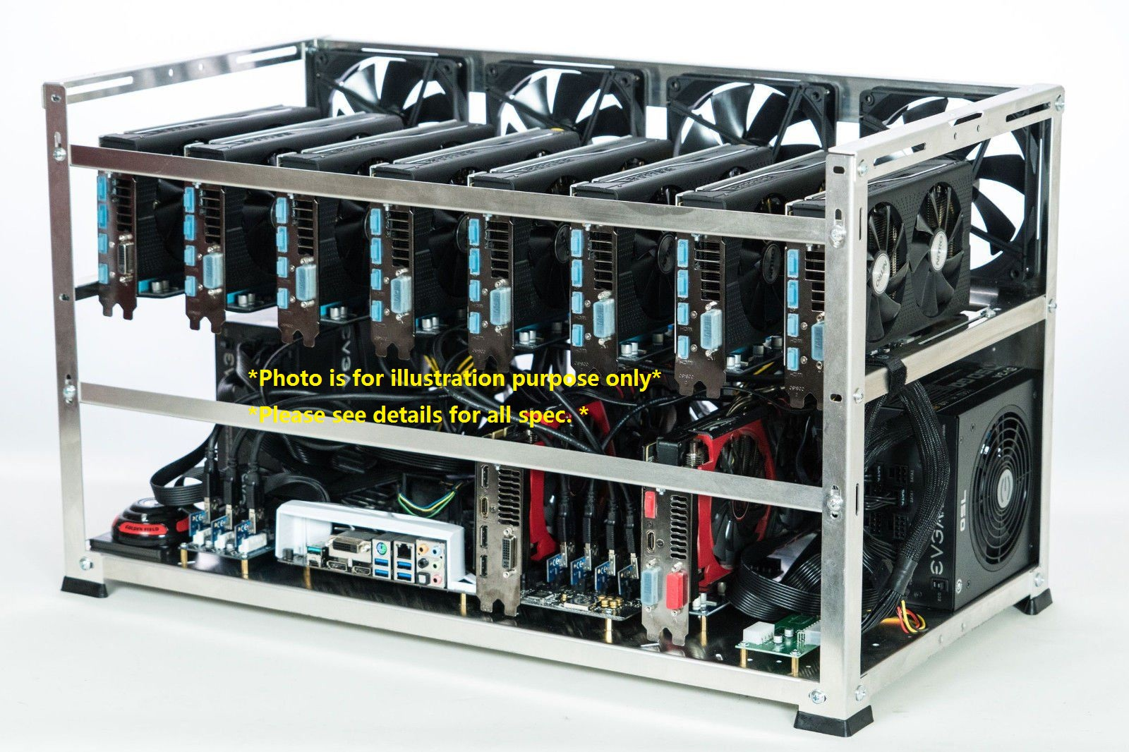 1070 Mining Rig Set Mining Cryptocurrency Mining Machine 1070 8G Graph