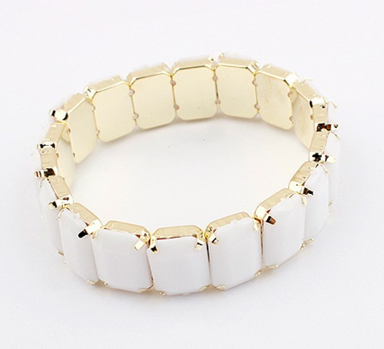 Korea Candy Colored Fashion Bracelet WHITE