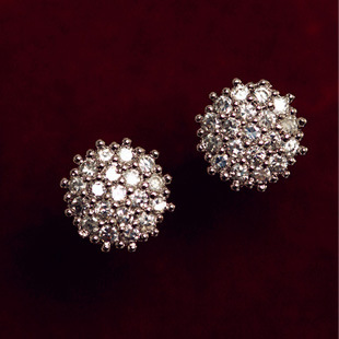 Korea Simple Elegant Diamond Snowflake Earrings