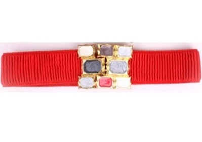 Korea Girdle Gems Belt RED