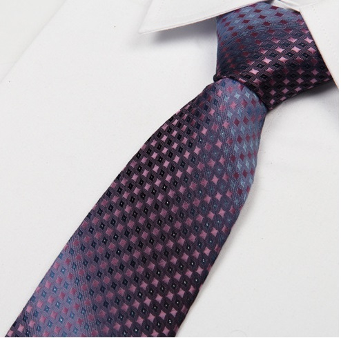 Clearance Classic Polyester Silk Jacquard Men Necktie Tie 13