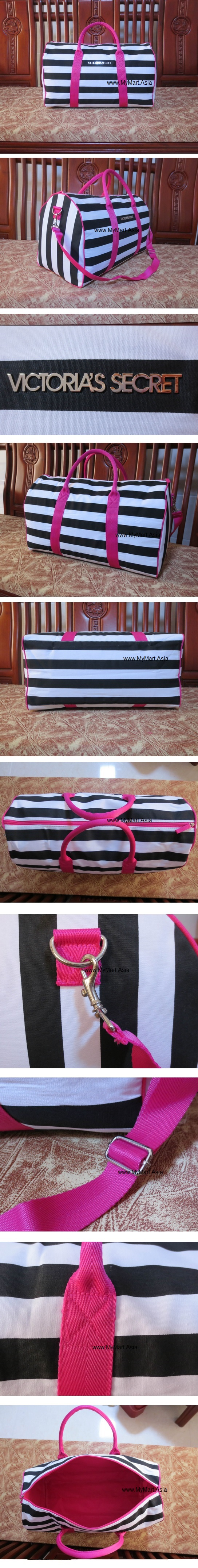 Victoria Secret Zebra Strip Big Traveling Bag