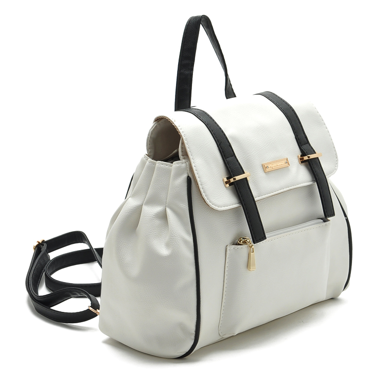 Clearance Limited Edition Japan Quality Soft Leather Backpack WHITE