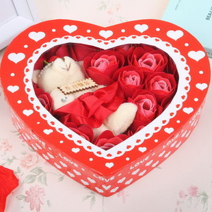 Valentine Gift Romantic Gift Rose Soap Rose Flower Bear