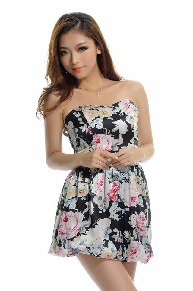 Prelove Authentic GUESS floral Satin dress