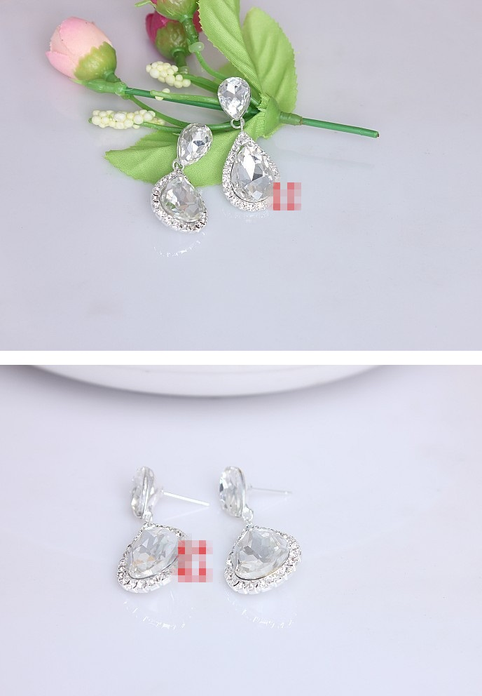 Bridal Rhinestone Crystal Earrings