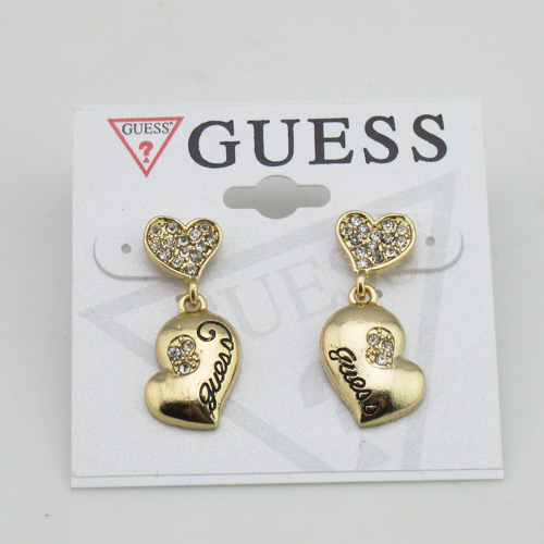 Simple Diamond Heart Earrings GOLD