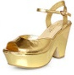 Western Fashion Rome High Heel Shoes GOLD