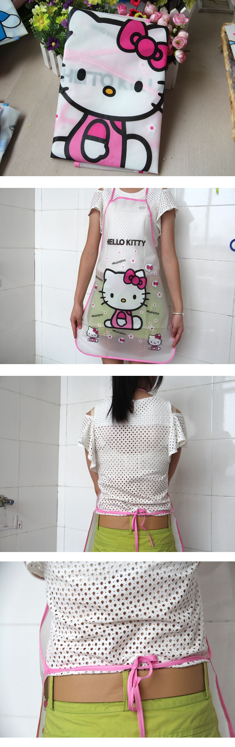 Home Must Have Lovely Princess Kitchen Apron Hello Kitty