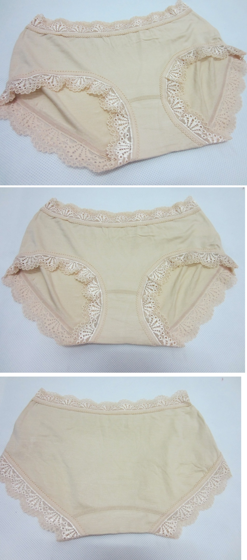 Healthy Bamboo Fiber Lace Panty NUDE