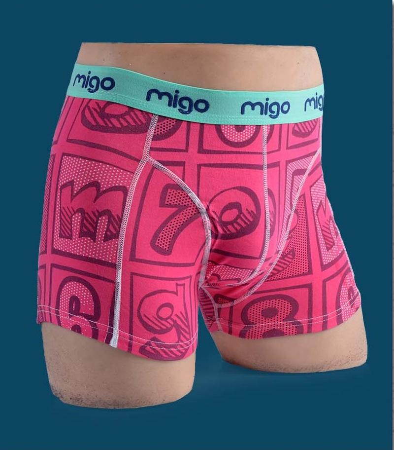 MIGO Top Quality Cotton Men's Boxer Underwear ALPHA Size L