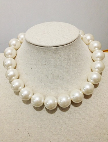 Korea Glass Pearl String Necklace 20mm