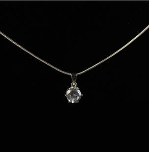 White Zircon Stone Necklace