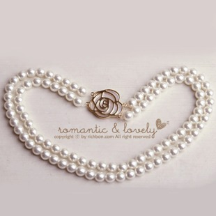 Elegant Bridal Pearl Necklace