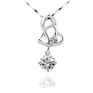 S925 Heart to Heart Love Pendant Necklace