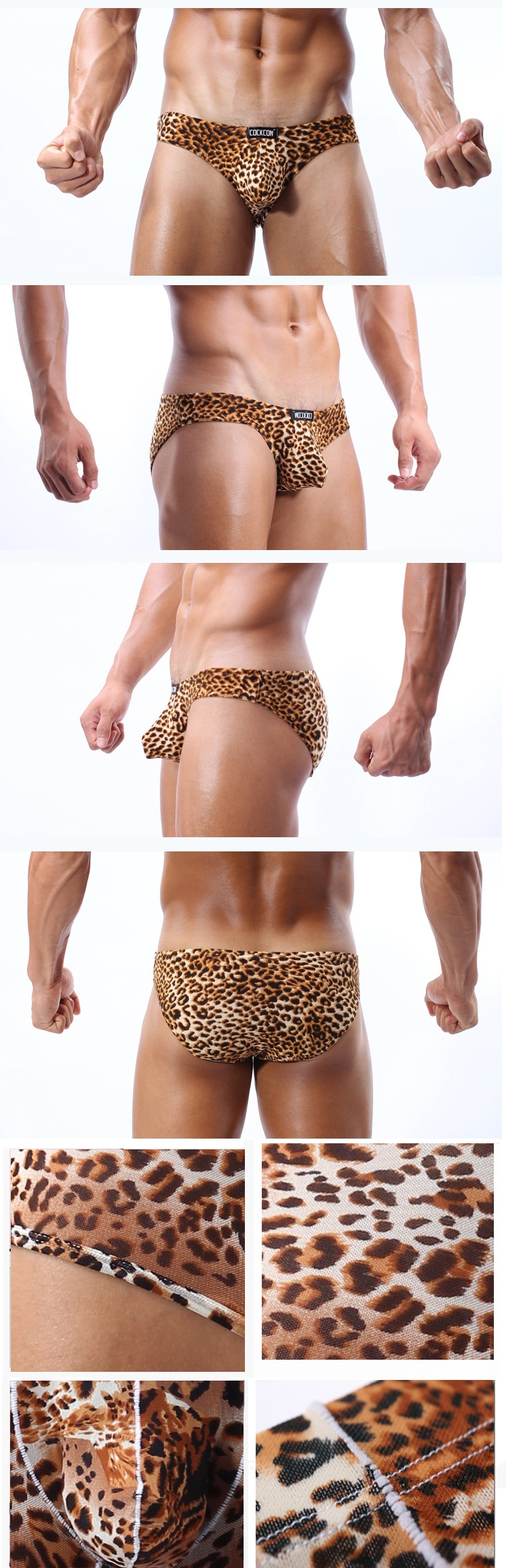 Men Convex U Leopard Sexy Men Underwear Size M, L