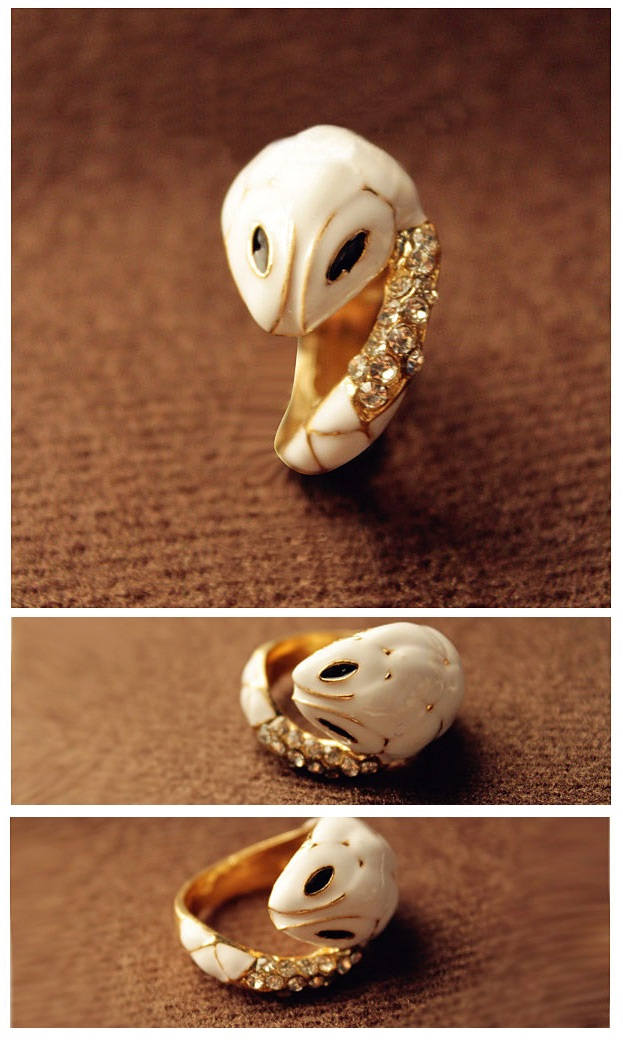 Enamel Small White Snake Ring Enamel Ring White Ring