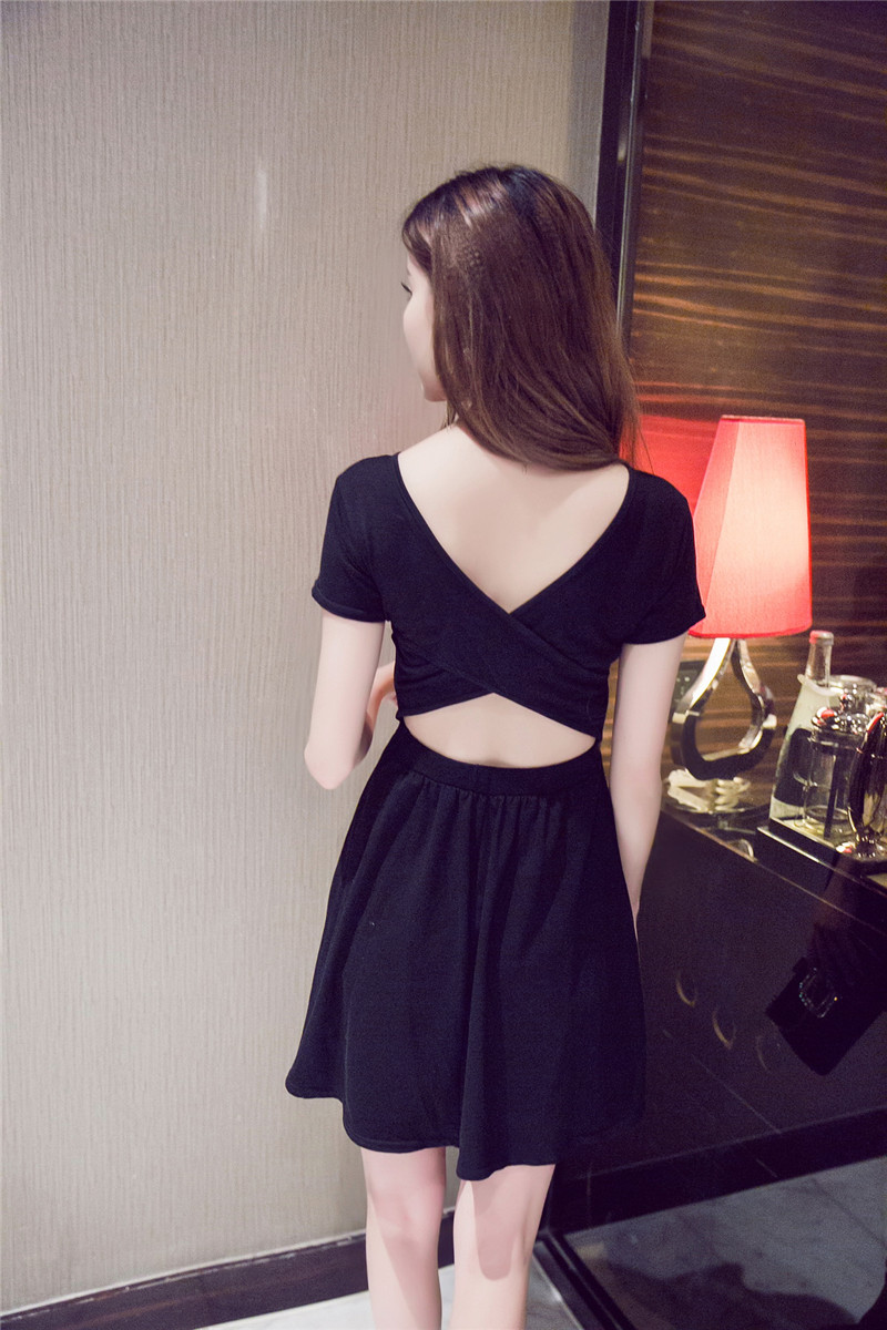 SPRING SEXY BACK CROS SLIM DRESS