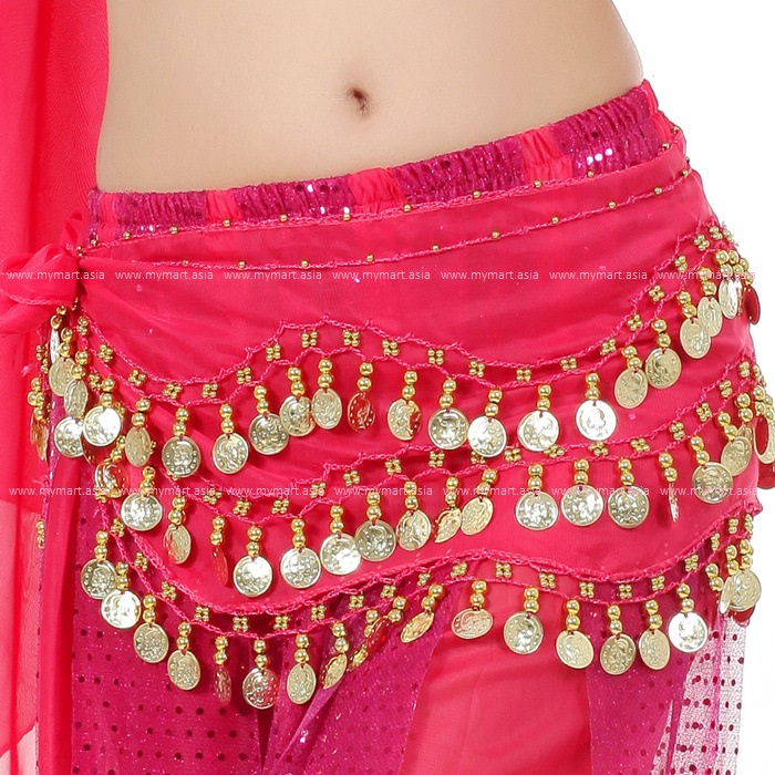 Belly Dance Costume 128 Gold Coins ROSE