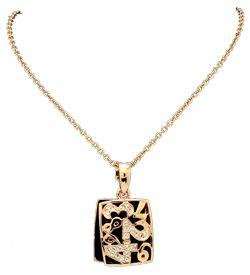 Solpresa Lucky Number Rose Gold Double Pendant Necklace