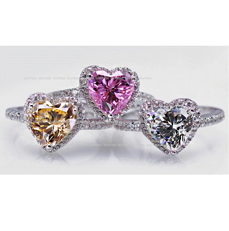 Solpresa Love Zircon Diamond Ring PINK US6