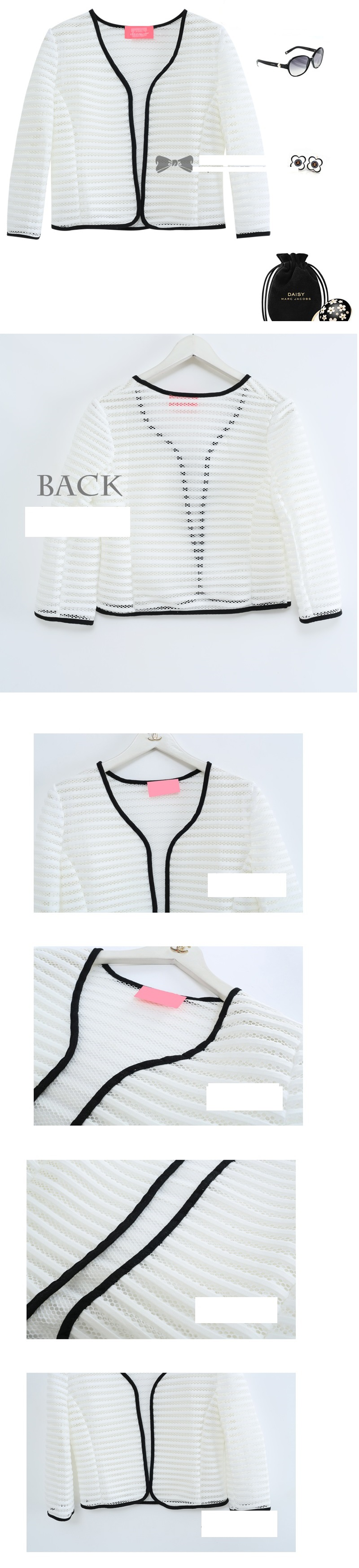 aKorea Unique three-dimensional air-conditioned cardigan jacket