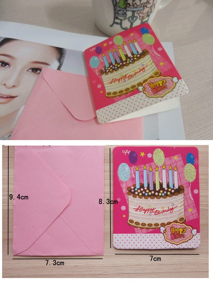 Birthday Greeting Card Gift Card with Envelope for 5 cards