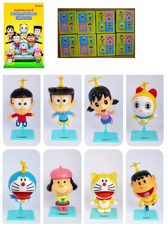 Shell Doraemon & Friends 3D Puzzles - Genzo Figurine