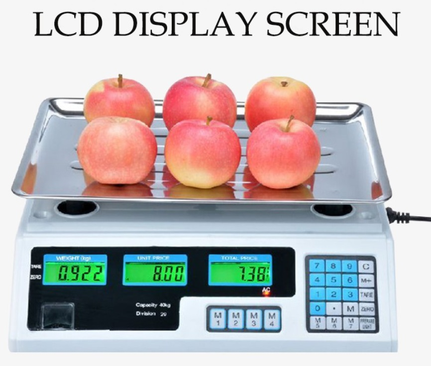 40KG ELECTRONIC DIGITAL PRICE COMPUTING WEIGHTING SCALE