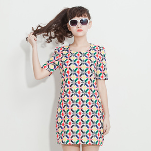 Clearance Korea Unique Sweet candy color design Dress