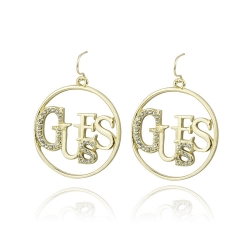 SALES American Big G Letter Earrings GOLD