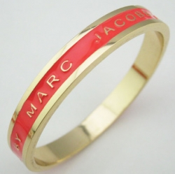 Marc Jacobs 39Carla Gold Plated Bracelet RED