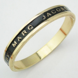 Marc Jacobs 39Carla Gold Plated Bracelet BLACK