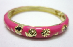 SALES Chinese Floral Oil Painting Fine Bracelet ROSE