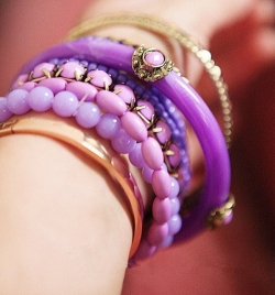 Bohemian Purple Ocean Multilayer Beads Bangle