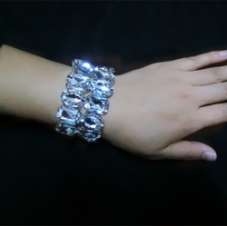 Bridal Stretchable Double Layer Diamond Bracelet