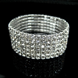 Classic Six Layers Diamond Stretch Bracelet