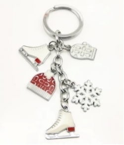 CLEARANCE Late Christmas Gift Snow Keychain