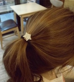 Korea Sweet and Lovely Diamond Star Hair Band SILVER
