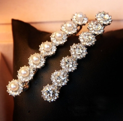 Korea Crystal Diamond Princess Hairpin DIAMOND