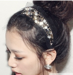 Korea KS MODE stunning lace flashing gems hairband