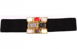 Korea Girdle Gems Belt BLACK