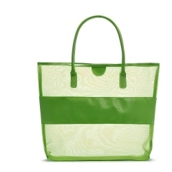 Transparent Grid Shoulder Bag GREEN