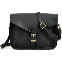 Korea Envelope Retro Shoulder Bag BLACK