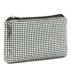 SALES Classic Chain Mail Silver Clutch