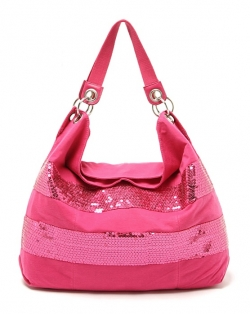 Sales Candie Sequined Shoulder Bag ROSE/BLACK