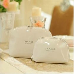 Limited Edition Styles Fragrant White Two Pieces Cosmetic Bag
