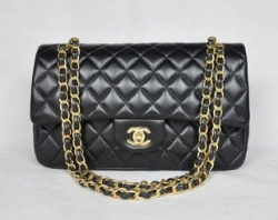 Clearance Must Have Classic Black Quilted Lambskin Shoulder Bag