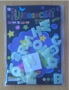 Luminous Grow In Dark Paste Stickers Alphabet Letter