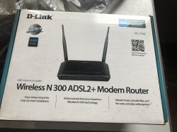Used D-Link Wireless N 300 ADSL2+ Modem Router DSL-2750E